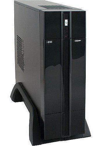 Gabinete - Gabinete K-Mex GI-9F89 - Mini-ITX - Preto Piano - Com fonte 180W