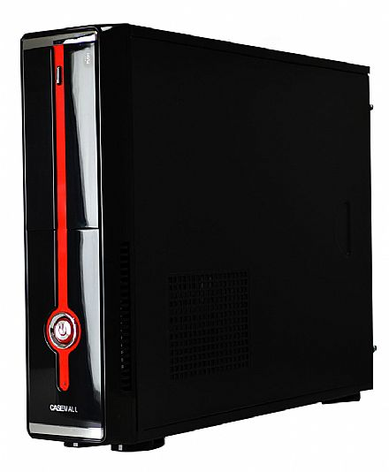Gabinete - Gabinete Slim CaseMall Case Red S101A - Vertical / Horizontal