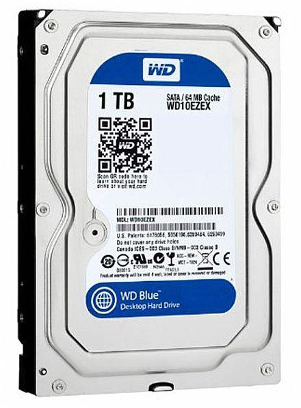 HD (Disco Rígido) - HD 1 TB SATA 3 - 6Gb/s - 7200RPM - 64MB Cache - WD Caviar Blue - WD10EZEX