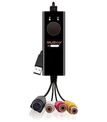 Captura de TV/Video - Captura de Video Mygica EzGrabber 2 - USB - Gravação em tempo real de Video Componente ou S-Video