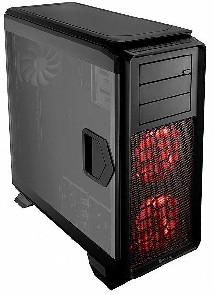 Gabinete - Gabinete Corsair 760T - USB 3.0 - Full Tower - Janela Lateral em Acrílico - LED Vermelho - CC-9011073-WW