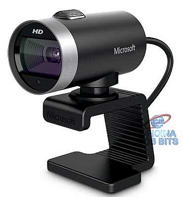 Webcam - Web Câmera Microsoft LifeCam Cinema H5D-00013 - 5 Mega Pixels - Video HD 720p - com Microfone - USB