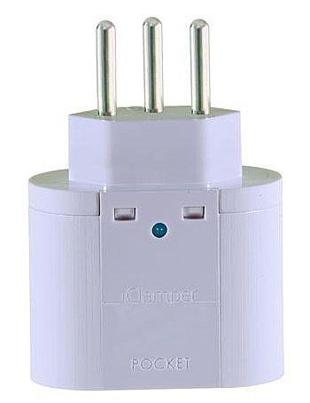 Filtro de linha - Protetor Contra Raios Clamper Iclamper Pocket 3P - DPS - Branco - 10200