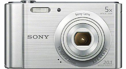 Câmera Digital - Sony Cyber-Shot DSC-W800 - 20.1 Mega Pixels - Zoom Óptico 5x - Filma em HD - Foto Panorâmica - Prata