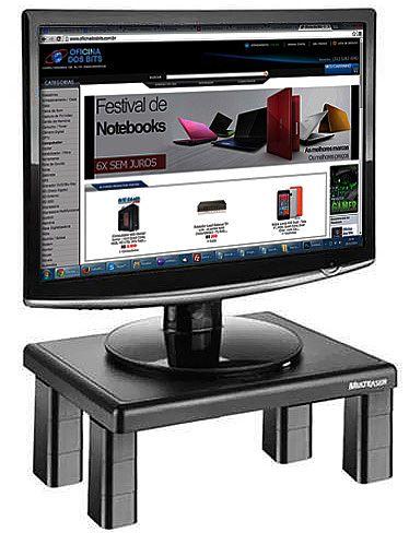 Móveis - Suporte para TV/Monitor de Mesa - Quadrado - 4 Níveis de Ajuste - Multilaser AC125