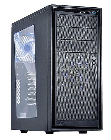 Gabinete - Gabinete NZXT Source - Janela Lateral em Acrílico- com LED Azul - CA-S220W-B2