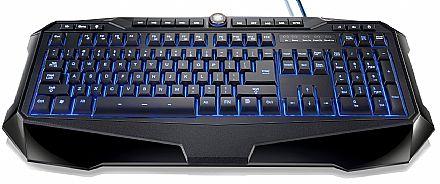 Teclado - Teclado Gamer Multilaser TC167 - USB - Multimídia - Iluminado Azul, Vermelho e Roxo - Teclas Anti-ghosting* - 10 Teclas Programáveis