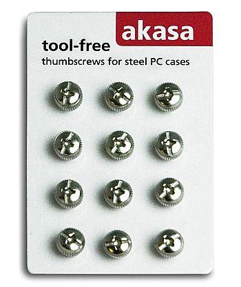 Gabinete - Parafuso Thumbscrew para Gabinete - tool free - 12 unidades - Akasa AK-MX005
