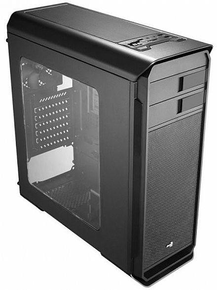 Gabinete - Gabinete AeroCool AERO 500 - Preto - Janela Lateral em Acrílico - USB 3.0 - EN55576