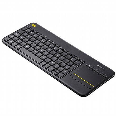 Teclado - Teclado sem Fio Logitech Touch K400 Plus - Touchpad Multitoque - HTPC - 920-007125
