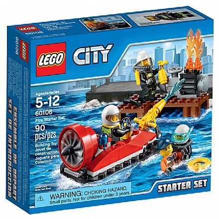 Brinquedo - LEGO City - Conjunto para Combate ao Fogo - 60106