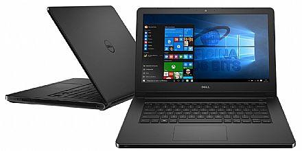 "Notebook - Dell Inspiron i14-5468-R20P - Tela 14"" HD, Intel i5 7200U, 4GB, HD 1TB, Intel HD Graphics 620, Windows 10 - Preto - Garantia 1 ano em casa - Seminovo"