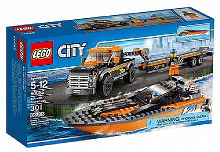 Brinquedo - LEGO City - 4x4 com Barco a Motor - 60085
