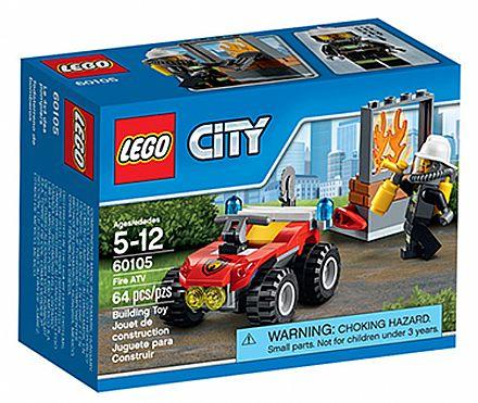 Brinquedo - LEGO City - Off-Road De Combate ao Fogo - 60105