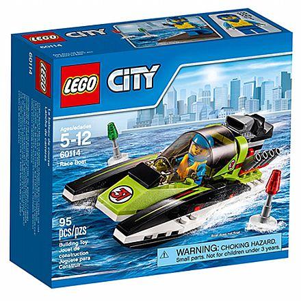 Brinquedo - LEGO City - Barco de Corrida - 60114
