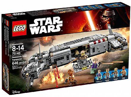 Brinquedo - LEGO Star Wars - Transporte Da Tropa De Resistência - 75140