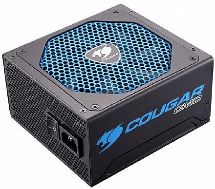 Fonte - Fonte 600W Cougar CMD - Cougar UIX - Sensor TSR - Eficiência 80% - CGR BD-600