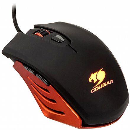 Mouse - Mouse Gamer Cougar M200 Orange - 2000dpi - 6 botões programáveis - 200M-O