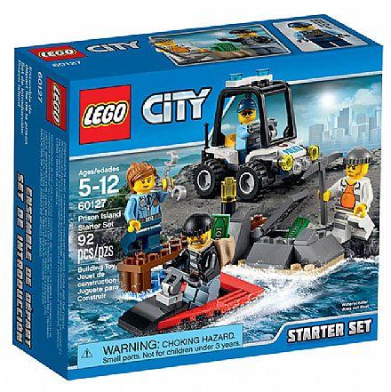 Brinquedo - LEGO City - Conjunto de Iniciação Ilha Da Prisão - 60127