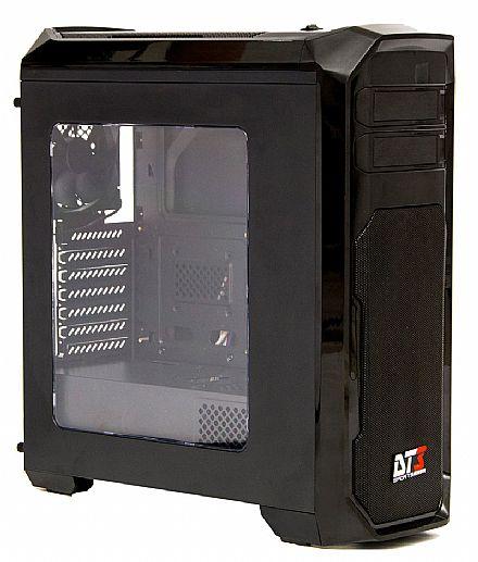Gabinete - Gabinete DT3 Triton - USB 3.0 - Janela Lateral em Acrílico - Controlador de Fan