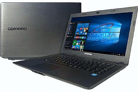"Notebook - HP Compaq Presario CQ23 - Tela 14"" HD, Intel Dual Core N2820, 8GB, HD 500GB, Windows 10"