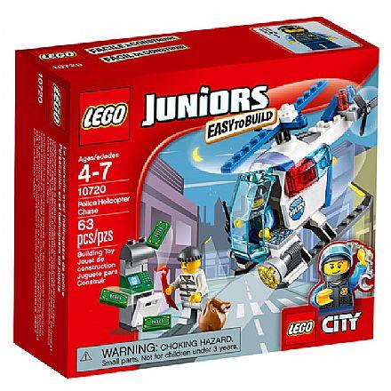 Brinquedo - LEGO Juniors - Helicóptero de Perseguição da Polícia - 10720