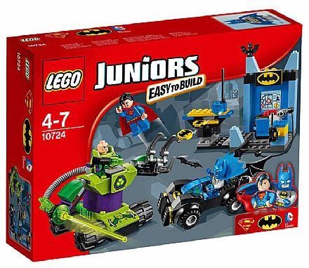 Brinquedo - LEGO Juniors - Batman e Super-Homem contra Lex Luthor - 10724