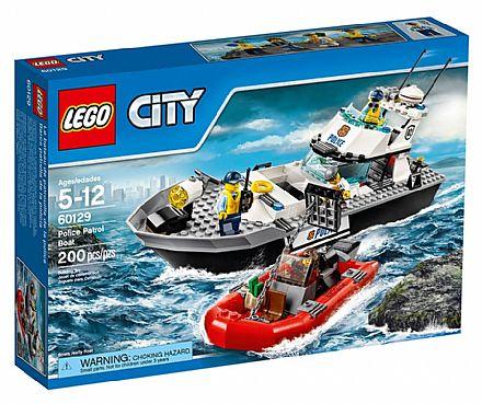 Brinquedo - LEGO City - Barco de Patrulha da Polícia - 60129