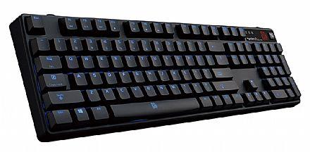 Teclado - Teclado Mecânico Thermaltake Poseidon Z Plus Blue Axis - Blue Switch Edition - com LED Azul - Bluetooth 4.0 - KB-PZP-KLBLUS-01