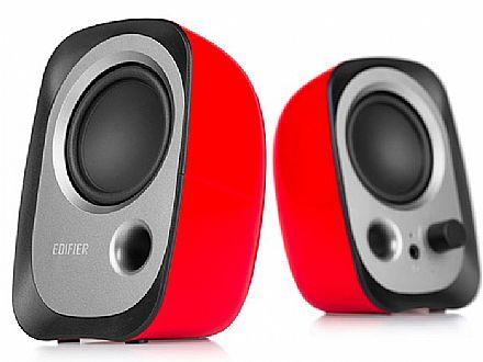 Caixa de Som - Caixa de Som 2.0 Edifier R12U - Vermelho