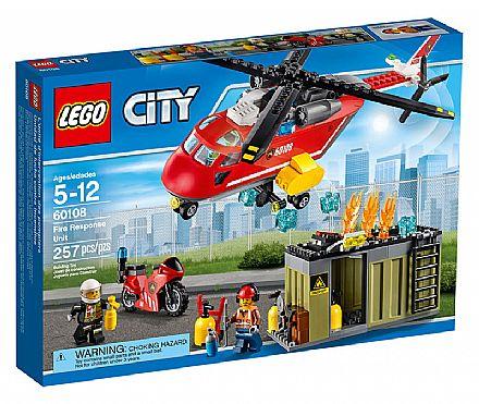 Brinquedo - LEGO City - Corpo de Intervenção dos Bombeiros - 60108