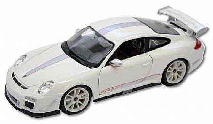 Brinquedo - Miniatura Porsche 911 GT3 RS 4.0 Branco - Escala 1:18 - Bburago 18-11036
