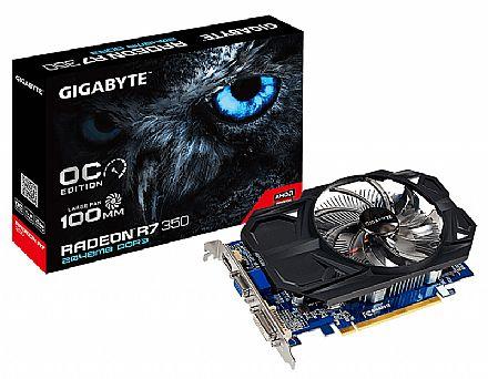 Placa de Vídeo - AMD Radeon R7 350 2GB DDR3 128bits - Overclock Edition - Gigabyte GV-R735OC-2GI