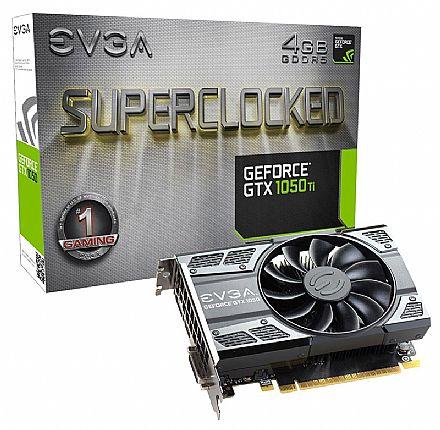 Placa de Vídeo - GeForce GTX 1050 Ti 4GB GDDR5 128bits - Super Clocked - EVGA 04G-P4-6253-KR