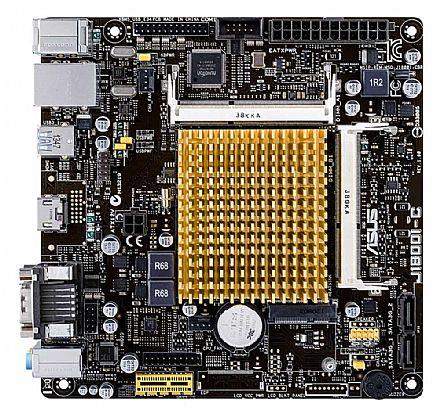 Placa Mãe para Intel - Kit Placa Mãe ASUS J1800I-C/BR + Processador Celeron Dual Core J1800 - DDR3 1333 - Mini ITX - Open Box