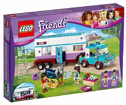 Brinquedo - LEGO Friends - Trailer Vaterinário para Cavalos - 41125