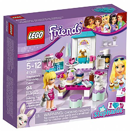 Brinquedo - LEGO Friends - Os Bolinhos da Amizade de Stephanie - 41308
