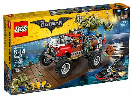 Brinquedo - LEGO Batman Movie - O Carro de Reboque do Crocodilo - 70907