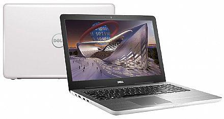"Notebook - Notebook Dell Inspiron i15-5567-N30B - Tela 15.6"" HD, Intel i5 7200U, 16GB DDR4, HD 1TB, DVD, Video Radeon R7 M445 2GB, Windows 10 - Branco - Garantia 1 ano"