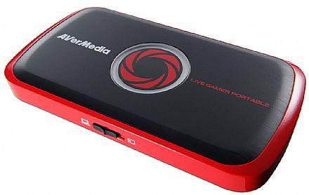 Captura de TV/Video - Captura de Video Live Gamer Portable AVerMedia C875 - Full HD 1080p - entrada HDMI e Composto - Grava direto no cartão SD - Ideal para Gravar Jogos