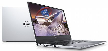"Notebook - Dell Inspiron i14-7472-A20C - Tela 14"" Infinita Full HD, Intel i7 8550U, 8GB, SSD 480GB, GeForce MX150 4GB, Windows 10 - Prata - Outlet"