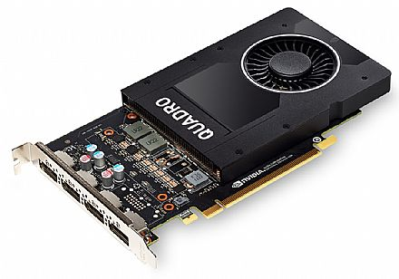 Placa de Vídeo - Placa Gráfica Nvidia Quadro P2000 5GB GDDR5 160bits - PNY XVCQP2000-PB / VCQP2000-PORPB