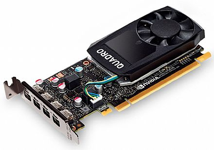 Placa de Vídeo - Placa Gráfica Nvidia Quadro P1000 4GB GDDR5 128bits - PNY XVCQP1000-PB