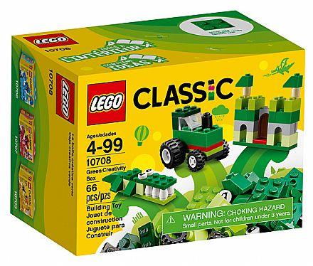 Brinquedo - LEGO Classic - Caixa de Criatividade Verde - 10708