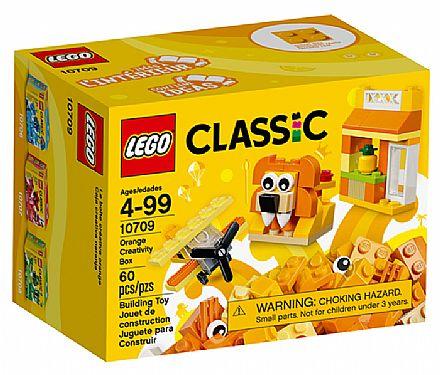Brinquedo - LEGO Classic - Caixa de Criatividade Laranja - 10709