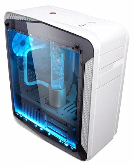 Gabinete - Gabinete X-Trike Gaming Desertic - Janela Lateral em Acrílico - USB 3.0 - Branco - G9 W