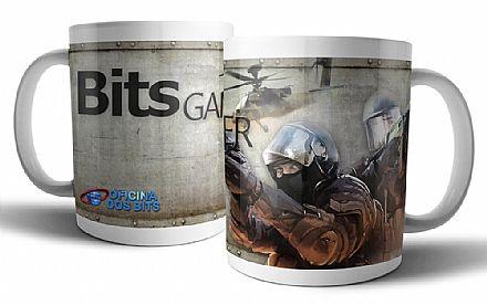 Acessórios - Caneca de porcelana - Bits Gamer CS GO