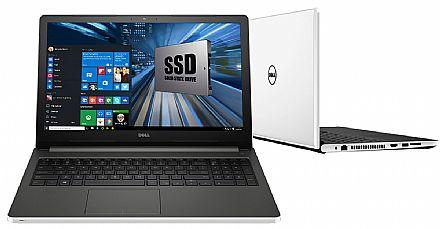 "Notebook - Dell Inspiron i15-5566-A50B - Tela 15.6"" HD, Intel i7 7500U, 8GB, SSD 480GB, Intel HD Graphics 620, Windows 10"