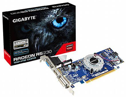 Placa de Vídeo - AMD Radeon R5 230 1GB DDR3 64bits - Gigabyte GV-R523D3-1GL