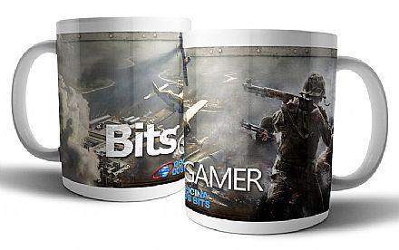 Acessórios - Caneca de porcelana - Bits Gamer Call of Duty